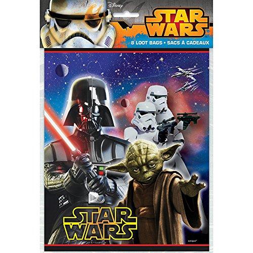 Disneys Star Wars - Loot Bags 8 Ct ()