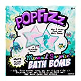 Pop Fizz Make Your Own Fizzing Mermaid Surprise DIY Bath Bomb by Horizon Group Usa, Find Your Mystical Mermaid Toy Inside, Essential Oils & Fruity Scents Included, Blue, Pink & Glitter