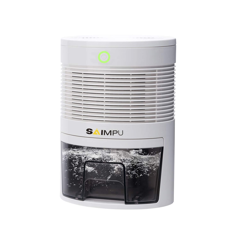 Mini Dehumidifier Ultra-Quiet Portable Electric Small Dehumidifier, 2200 Cubic Feet (220 sq ft) for Basement, Bedroom, Bathroom, RV, Closet