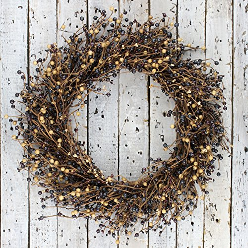 Tan Berry (Extra Large Black Burgundy Tan Mixed Berry Wreath)
