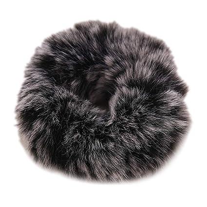 RUINAIER - Corbata de pelo de felpa para mujer, con pompón, para ...