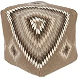 Surya POUF-203 Beth Lacefield 100-Percent Wool Pouf, 18-Inch by 18-Inch by 18-Inch, Taupe/Gray/Olive/Beige Review
