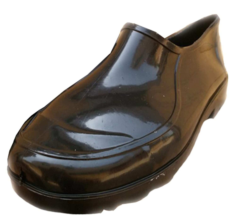 Men's Breathable Short Rain Boots Antiskid Round Toe Low Top Wellies Rubber Shoes