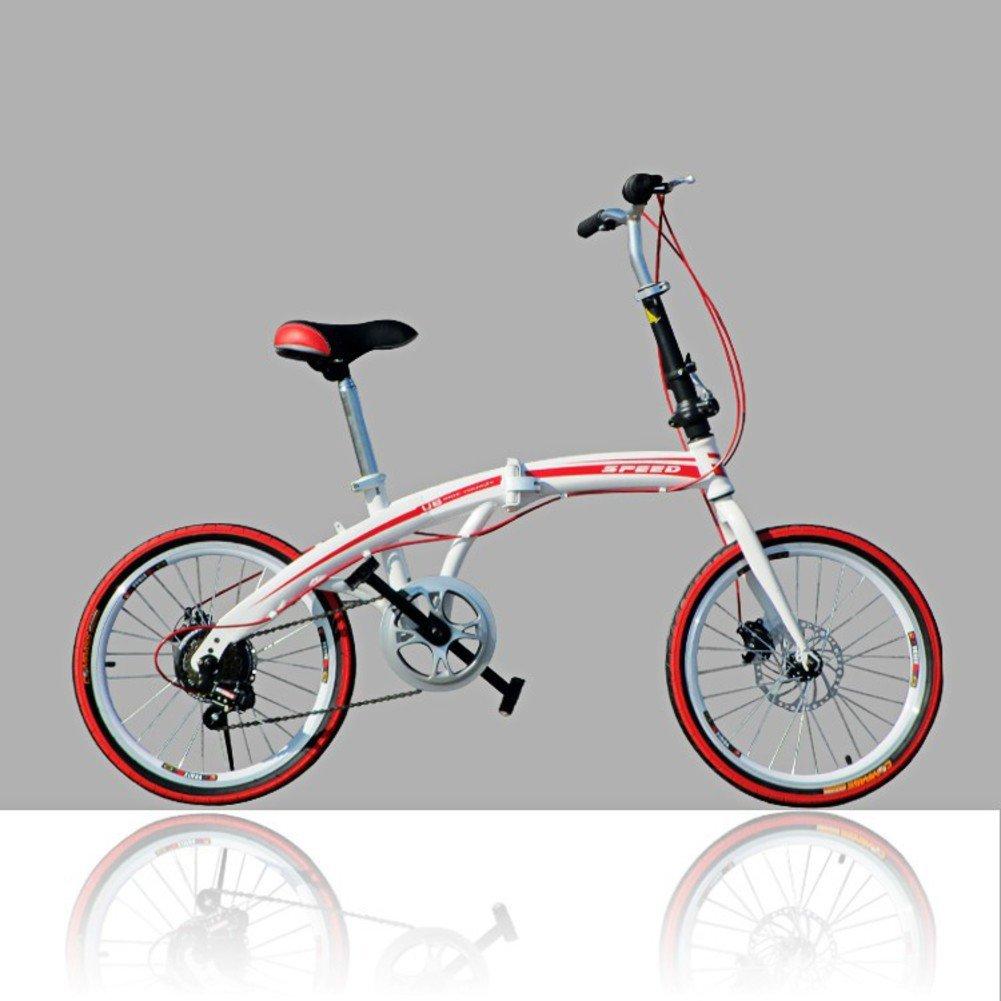 大人 折りたたみ自転車, 学生折りたたみ自転車 U8 男女 折りたたみ自転車 B07D356Q3N 20inch|レッドA レッドA 20inch