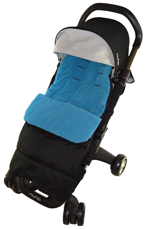 Sacco coprigambe compatibile con passeggino Nanu Pepp Luxx, blu oceano For-Your-Little-One Others