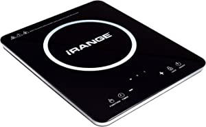 iRANGE A18 Ultra Slim Portable Induction Cooktop - Countertop Burner with 10 Temperature Levels, Overheat Protection, Timer, Child Lock