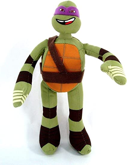 Amazon.com: Nickelodeon la TMNT Donatello felpa muñeca: Toys ...