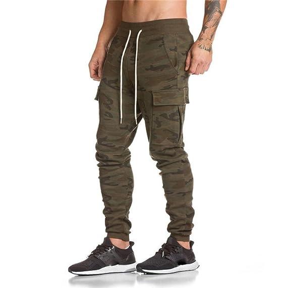Hombre Pantalón Deportivo Jogger Militar Camuflaje Estilo Urbano Pantalones Casuales para Hombre Chándal de Hombres Xinan