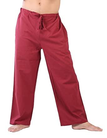 24265ec51f CandyHusky Mens Drawstring Gym Fitness Joggers Workout Yoga Pants Cotton  (S, Maroon)