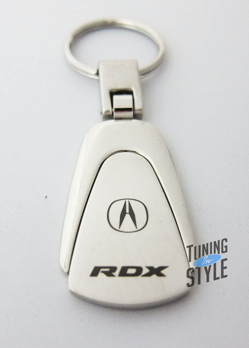 Acura RDX Black Teardrop Keychain INC Au-Tomotive Gold