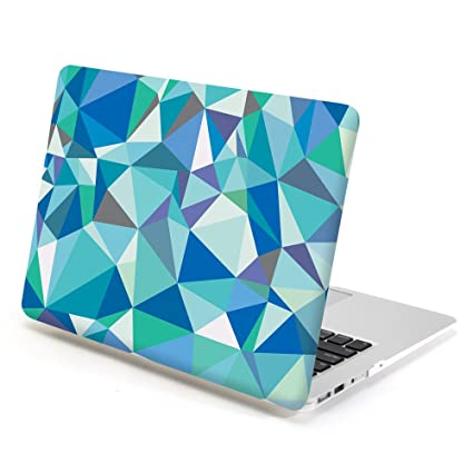 official photos fd408 508e0 Macbook Case 13 inch Air, GMYLE Hard Case Print Frosted for MacBook Air 13  inch (Model: A1369 and A1466) - Blue Geometric Pattern Rubber Coated Hard  ...