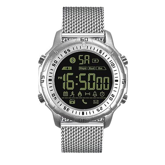 ... digital deportes relojes hombres impermeable alarma LED digital relojes para iPhone X / 8 / 7Plus / 7, Samsung, Huawei, Xiaom: Amazon.es: Relojes