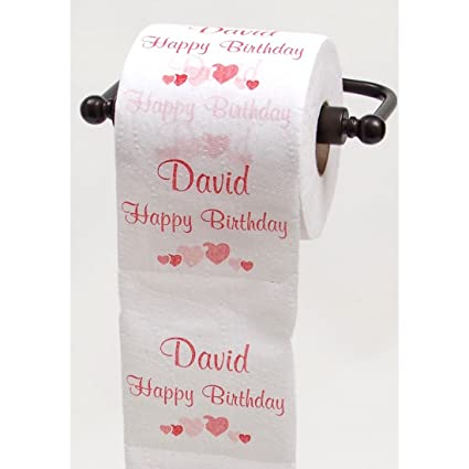 Amazon.com: JustPaperRoses Happy Birthday toilet paper - top 25 male ...