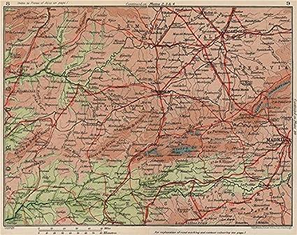 Map Of Spain Valladolid.Amazon Com Castilla Y Leon Madrid Salamanca Valladolid Vintage
