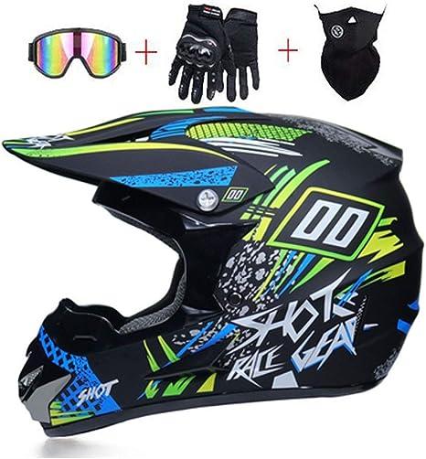 OUTLL Adulto Motocross Casco Set, Off-Road Motocicleta DH Enduro ...