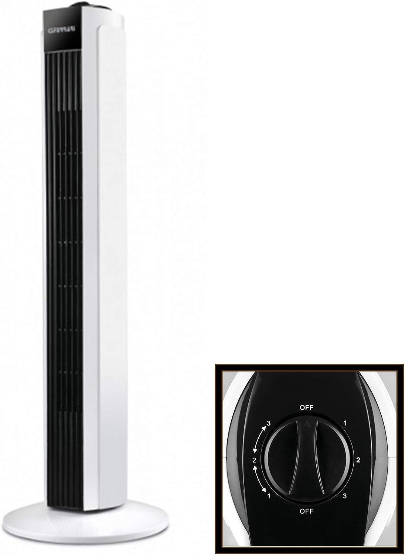 G3 Ferrari Tramontana - Ventilador (Ventilador tipo torre para el hogar, Negro, Blanco, Piso, 50 W, Corriente alterna, 220-240)