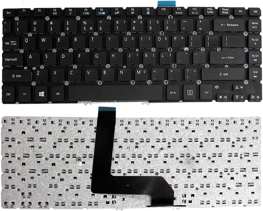 "GinTai 14"" US Keyboard Replacement for Acer Aspire Ultrabook M5-481 M5-481T M5-481PT M5-481PTG M5-481TG M5-481G 9Z.N8DBQ.B1D NSK-R2BBQ 1D AEZ09R00110 AEZ09R01110 NK.I1417.02K Without Backlit"