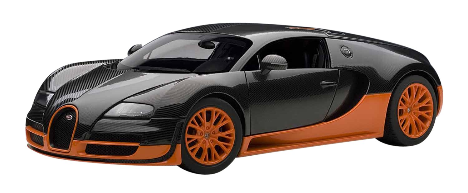 Superbe Amazon.com: Autoart 1/18 Bugatti Veyron Super Sport (Carbon Black /  Orange): Toys U0026 Games