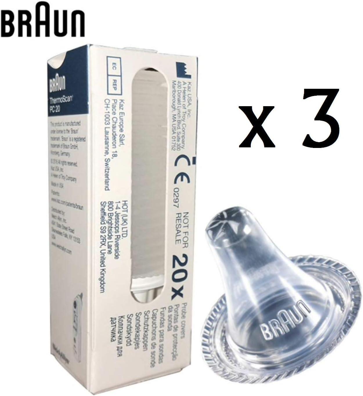 200 pcs Braun Thermoscan LF 40 sonde Couvre Lentille de remplacement filtre Cap
