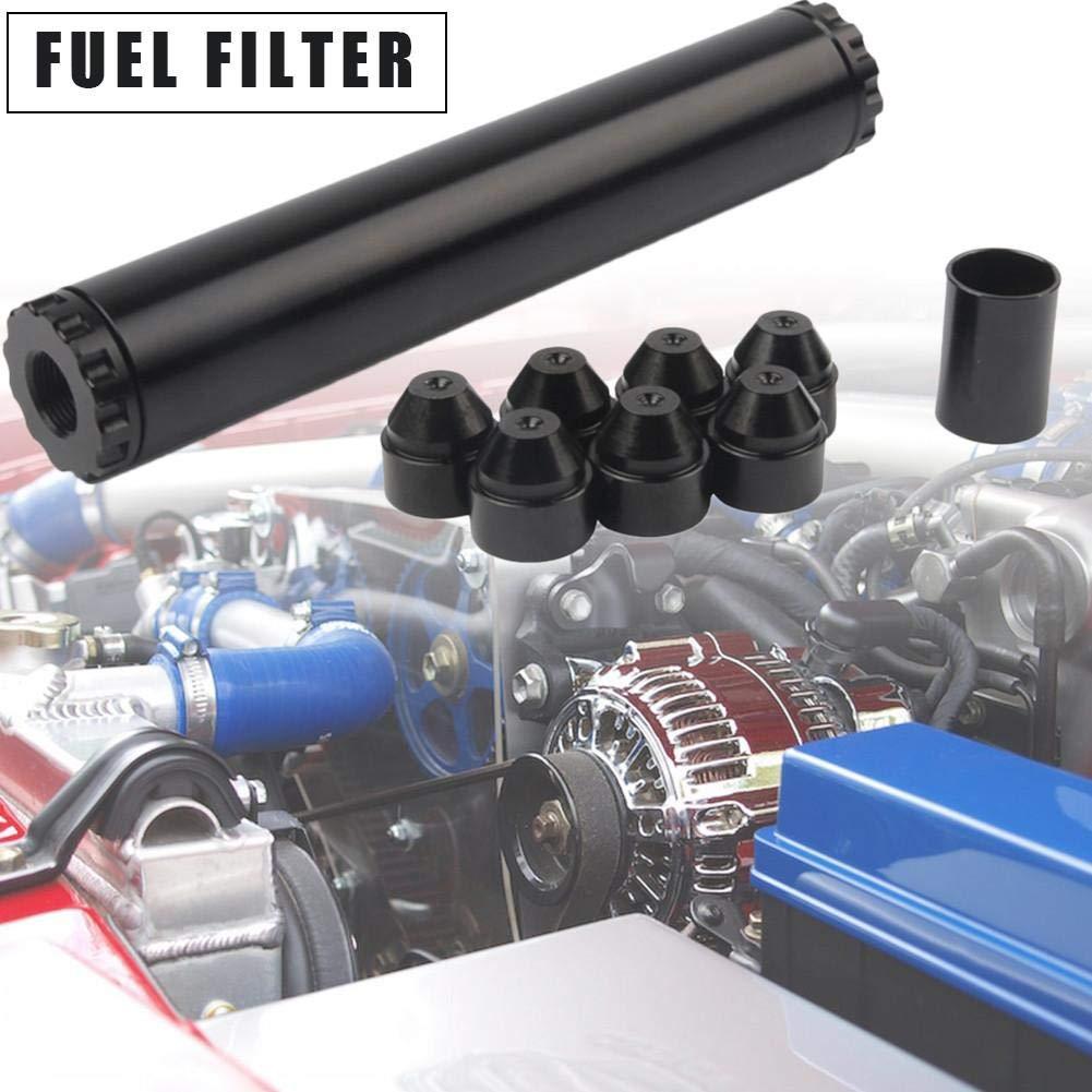fancyU Auto Aluminium Alloy 24003 4003 Automotive Kraftstofffilter 5//8-24 F/ür Napa 4003 WIX 24003 Schwarz
