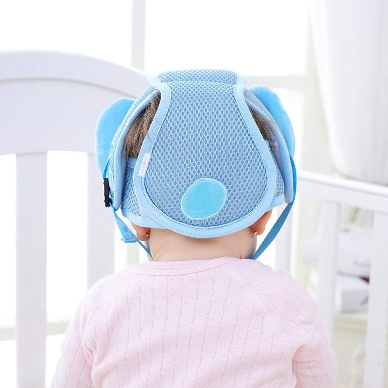 Lorenlli Casquette de protection anti-chute pour bébé Bonnet anti-collision pour bébé