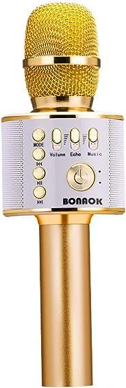 BONAOK Wireless Bluetooth Karaoke Microphone,3-in-1 Portable Handheld karaoke Mic Home Party birthday Speaker Machine for iP