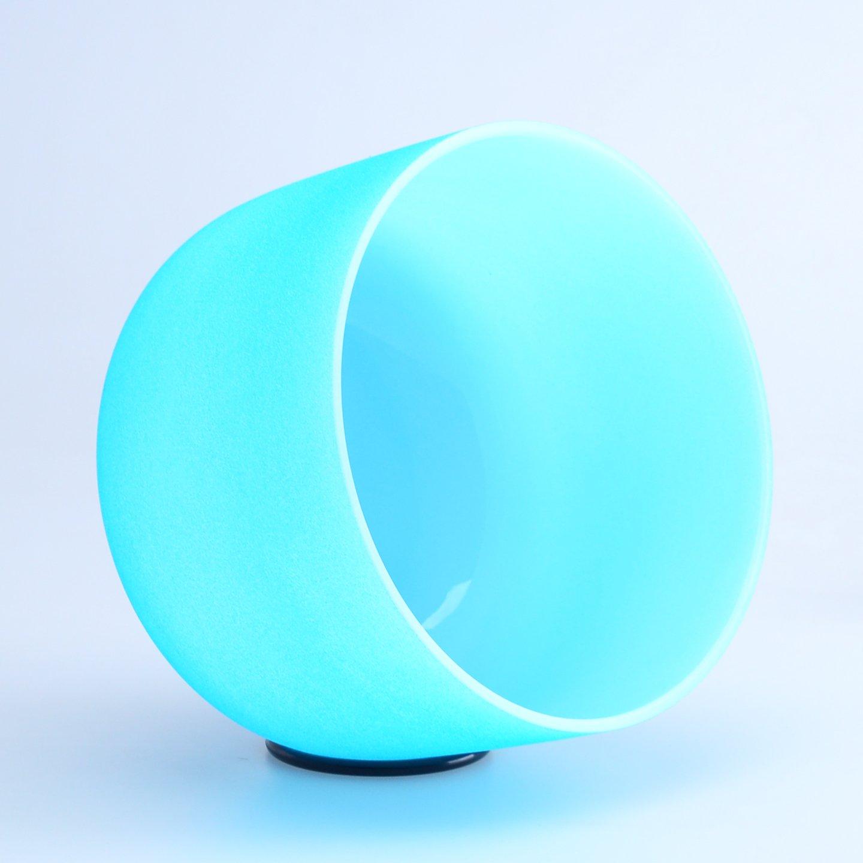 10 インチ(25cm) 音階G 青い クリスタルボウル ヒーリング フロストタイプ クリスタル音楽ボウル シンギングボウル Crystal Singing Bowl B075NC45QG