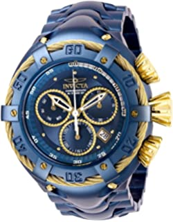 Invicta Mens Bolt Quartz Stainless Steel Watch, Color:Blue (Model:
