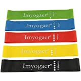 Yoga Stretch Resistance Band Exercise Straps Resistance Loop Bands for Training Gym Yoga Pilates ABS Exercise Fitness Rehab Crossfit Pilates Calisthenics Set of 5