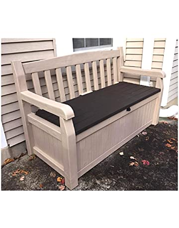 Etonnant 50 Inch Wide Storage Bench, Garden Outdoor Loveseat Deck Box, All Weather  Resistant