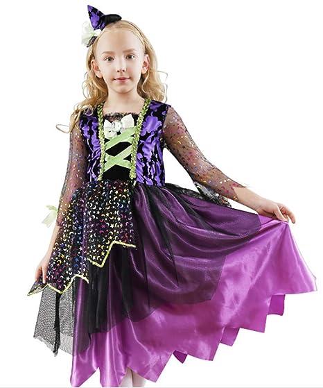 e87d8f89515b5 ハロウィン 衣装 子供 ワンピース キッズ 魔女 女の子 仮装 コスプレ ハロウィン ウィッチ 魔法 ダンス衣装 ハロウィン コスチューム