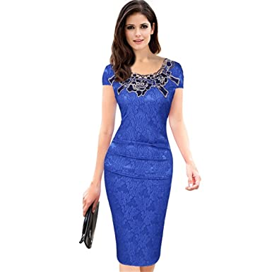 Eastylish Women S Elegant Slim Fitting Business Pencil Dress Wear To