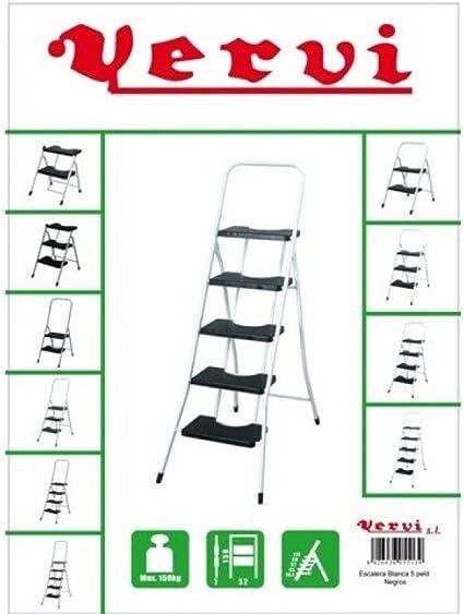 Vervi - Escalera 5 peldaños con barandilla: Amazon.es: Bricolaje y herramientas
