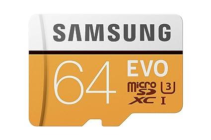 Samsung EVO Grade 3, Class 10 64GB MicroSDXC 100 MB/S Memory Card with SD Adapter (MB-MP64GA/IN) - Buy Samsung EVO Grade 3, Class 10 64GB MicroSDXC 100 MB/S Memory Card with SD Adapter (MB-MP64GA/IN) Online at Low Price in India - Amazon.in