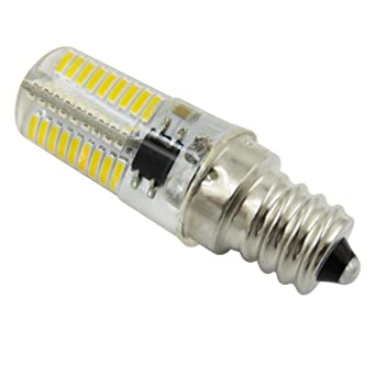 SODIAL Atenuacion LED Bombilla de maiz Mini lampara de silicona 72 Leds SMD 4014 E12 220V