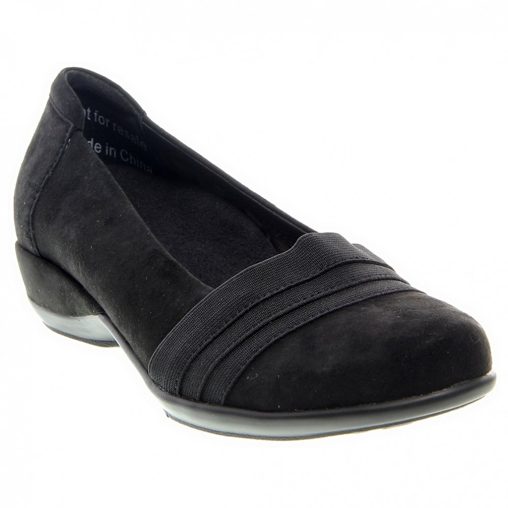 Aetrex Women's Valerie Slip-On Black Lamb Suede/Stretch 10.5 M US