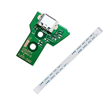 PPX JDS-030 y JDS-040 Replacement Placa Controlador Conectores de Carga Micro USB para Mando PS4, Tarjeta Micro del Cargador de batería del USB Parte ...