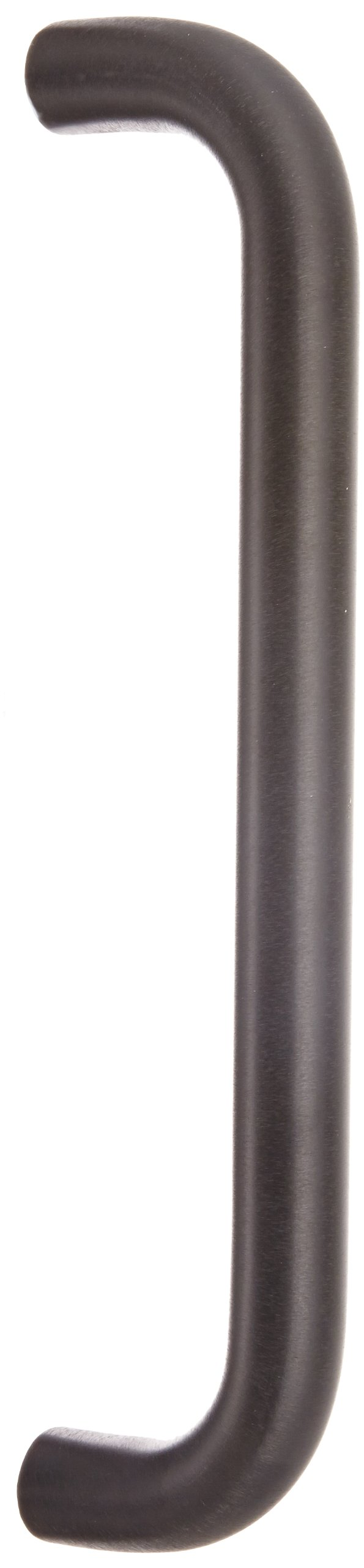 Rockwood 112BTB13.315 Aluminum Straight Solid Door Pull Set for 1-3/4'' Glass Door, 1'' Diameter x 12'' Center-to-Center, Type 13 Back to Back Mount, Black Anodized Finish