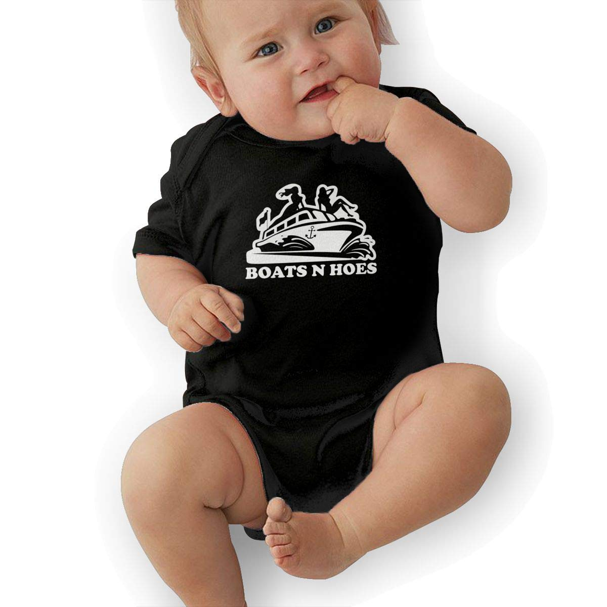 Bodysuits Clothes Onesies Jumpsuits Outfits Black HappyLifea Boats and Hoes Baby Pajamas