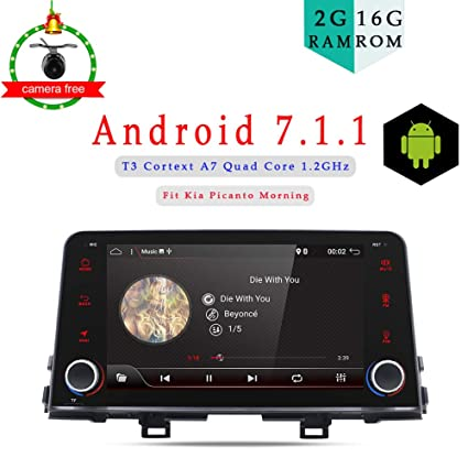 "8"" Android 7.1 Quad Core Car DVD GPS Navigation Multimedia Player Car Stereo KIA Picanto"