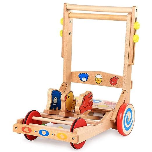 Andador Trineo de Madera Multifuncional del bebé del Caminante del ...