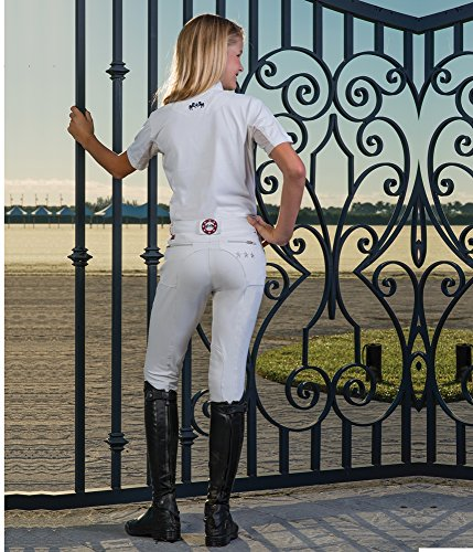 Equine Couture STARS AND STRIPES KNEE PATCH BREECHES