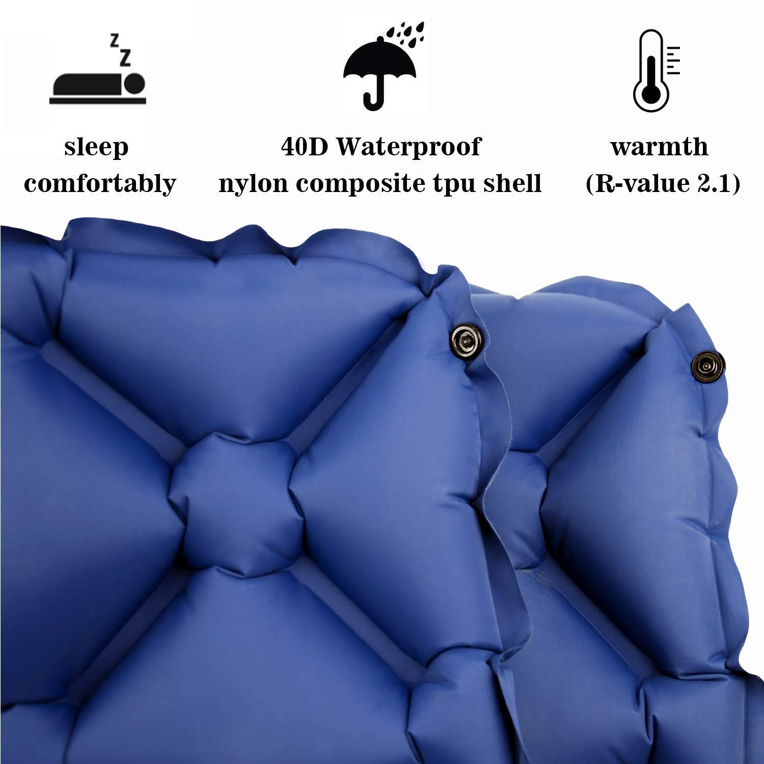 Camping Sleeping Pad for 2 Person – Inflatable Sleeping Pad, Ultralight Sleeping Mat Come with Connect Buckles, Ultralight Air Sleeping Pad, Folding Camping Mat for Outdoor Backpacking Travel
