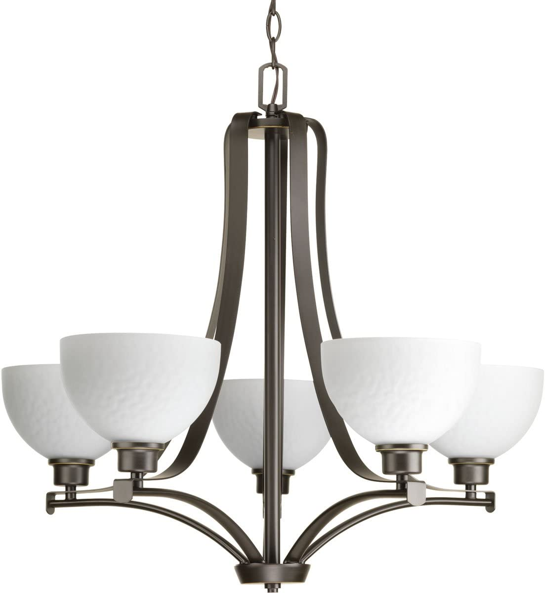 Progress Lighting P4271-20 Transitional Five Light Chandelier from Legend Collection Dark Finish