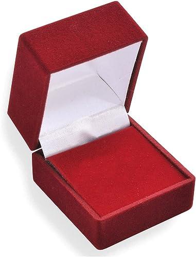 Schmucketui für Ohrstecker mit Samtüberzug Schmuckbox Ohrringe Rot Schwarz