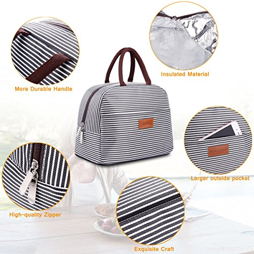 BALORAY Lunch Bag Tote Bag Lunch Organizer Lunch Bag for Women Perfect for Work Women(Upgraded Version) by BALORAY (Image #4)