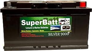 SuperBatt AGM1100 12V 120AH (100AH & 110AH) Heavy Duty Ultra Deep Cycle VRLA AGM Leisure Marine Battery