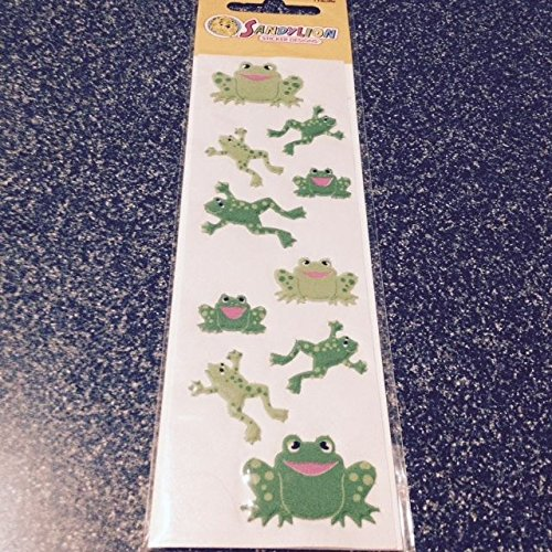 Puffy Frog (Sandylion PUFFY FUZZY Stickers FROGS ADHESIVES New & Sealed FROGS NEW supplier:stickblue)
