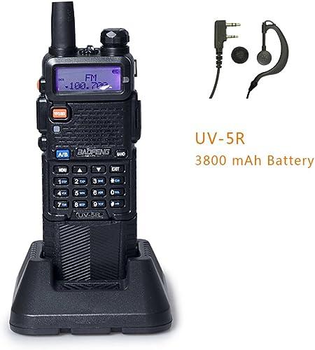 BAOFENG UV-5R Upgrade Version 3800mAh Battery Two Way Radio Black