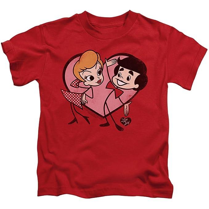Amazon.com: A & E diseños niños I Love playera de Lucy ...